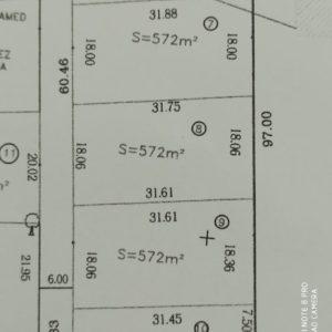 4 lots de 572 m² à bâtir sur le côte de Djerba