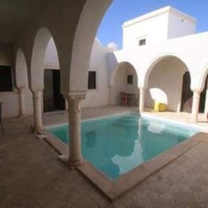 Villa style Houch avec piscine à Djerba Midoun