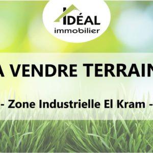Terrain de 1 123 m² au Zone industrielle El Kram