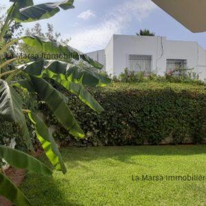 Duplex S+5 avec jardin à la Marsa