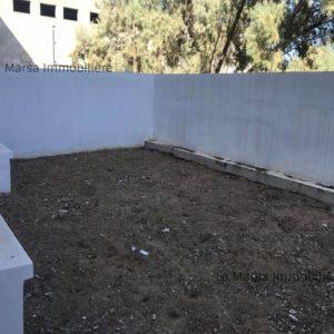 Appartement S+3 avec jardin à la Soukra