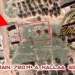 Terrain de 720 m² situé à Kalaa Sghira