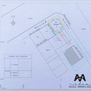 Terrain viabilisé en double façade à 450m de la plage et la zone touristique Mrezga, Hammamet