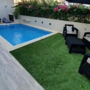 Rez-de-chaussée S3 meublé avec piscine à la Soukra