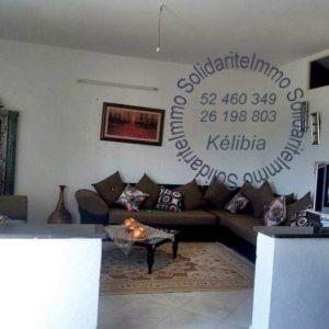 Maison studio et garage à kelibia