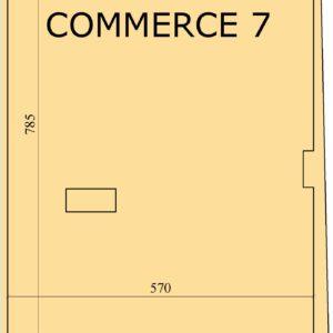 Local commercial de 86 m² avec une façade de 5.70m à AFH, Mrezga