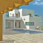 Maison non achevée sur un grand terrain titre bleu à Djerba