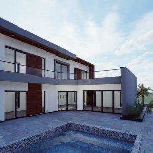 Villa avec piscine en cours de construction à Midoun Djerba