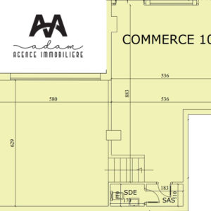 Local commercial de 146m² double hauteur 5.4m à Hammamet Nord