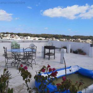 Bel appartement S2 meublé avec toit-terrasse à Gammarth