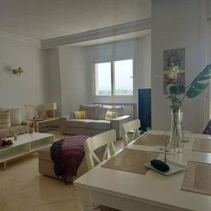 Appartement lumineux avec vue dégagé à Menzah 8