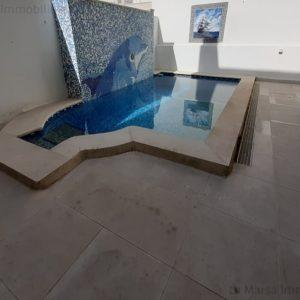 Rez-de-chaussée S3 avec piscine à La Marsa