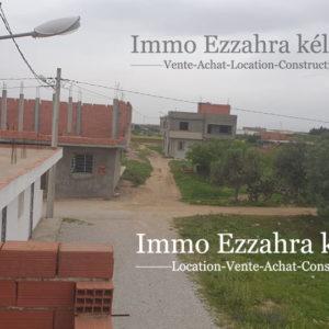 Deux appartements en RDC finis et deux autres inachevés aux 1ér étage situés à kélibia