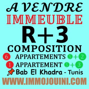 Immeuble R+3 à Bab Khadra
