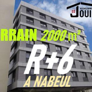 Terrain 2000 m² sur la Route à Nabeul