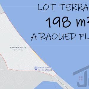 Lot terrain 198 m² à Raoued Plage