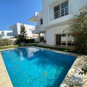 Villa S5 avec piscine et jardin à Hammamet, côté Carthage Land