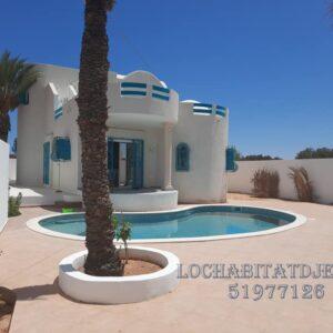Charmante villa S+3 à Midoun Djerba route du phare L97