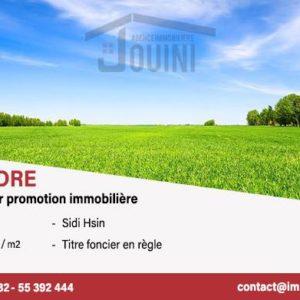 Terrain 3706 m² à sidi Hassine pour promoteur