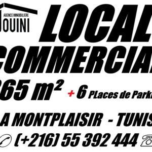 Local Commercial 365 m² à Montplaisir Tunis