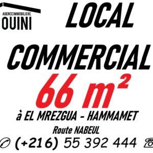 Local Commercial 66 m² à Hammamet Nord