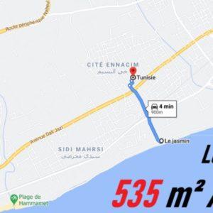 Terrain 535 m² à Nabeul