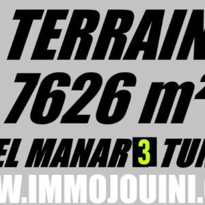 Terrain 7626 m² à El Manar 3