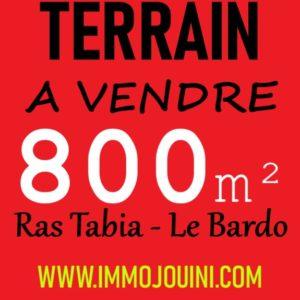 Terrain 800 m² à Ras Tabia Le Bardo