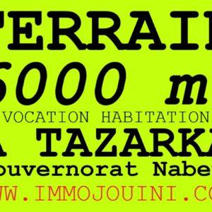 Terrain 6000 m² à Tazarka Nabeul