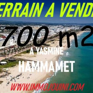Terrain 700 m² à Yasmine Hammamet