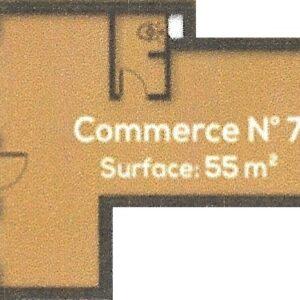 Local commercial de 55m² à AFH Mrezga, Nabeul.