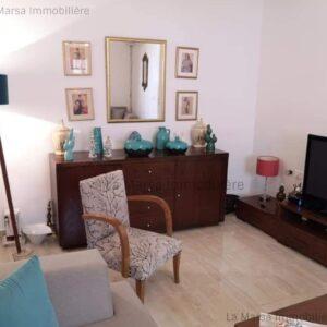 Appartement S2 meublé à Gammarth