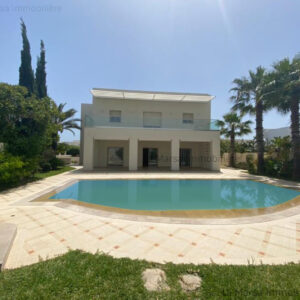Belle villa S4 avec jardin et piscine à Gammarth