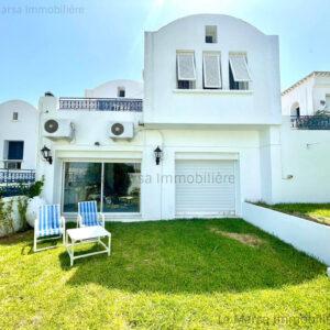 Villa S3 meublée vue mer avec jardin à Gammarth