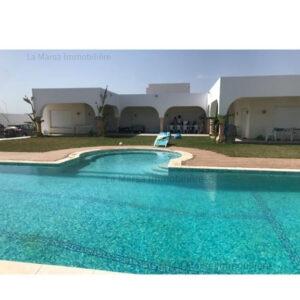 Villa S3 avec piscine et jardin à Ain Grenz, Kelibia