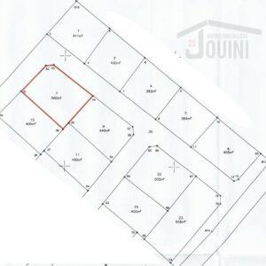 Terrains 384m² à CHOTRANA 1 Soukra