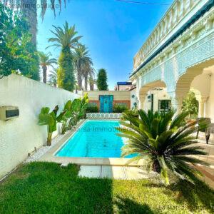 Belle villa S3 avec piscine et jardin à Ezzahra