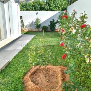 Appartement S2 meublé avec jardin à La Marsa