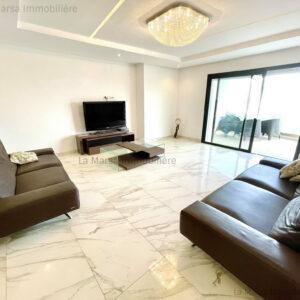 Appartement S3 meublé à Marsa Cube