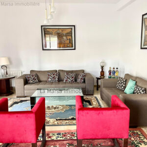 Villa S4 meublée avec jardin à La Marsa