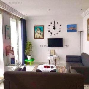 Appartement S1 meublé vue mer à Gammarth