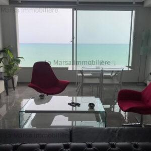 Appartement S2 meublé vue mer à Gammarth