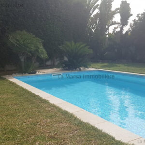 Villa S4 avec piscine et jardin à Gammarth