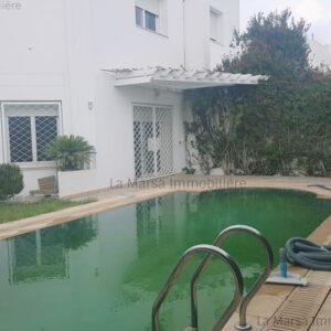Villa S5 avec piscine et jardin à Marsa Nassim