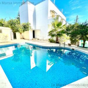 Villa S5 avec piscine et jardin à Carthage