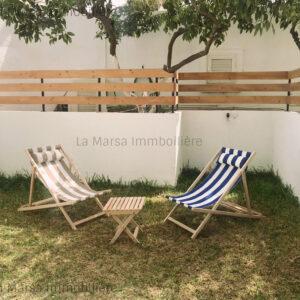RDC S2 meublé avec jardin à La Marsa