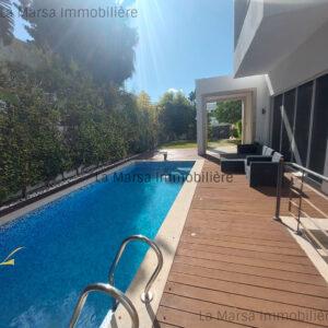 A Louer villa s4 avec piscine et jardin à Carthage