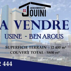 Usine 12 400 m² A Ben Arous