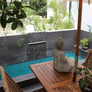 Bel appartement S1 meublé avec piscine à La Marsa