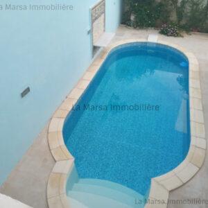RDC S3 avec piscine aux Jardins de Carthage